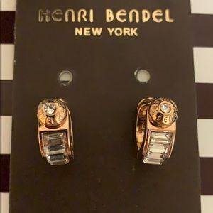 NEW HENRI BENDEL BAGUETTE HOOPS ROSE GOLD